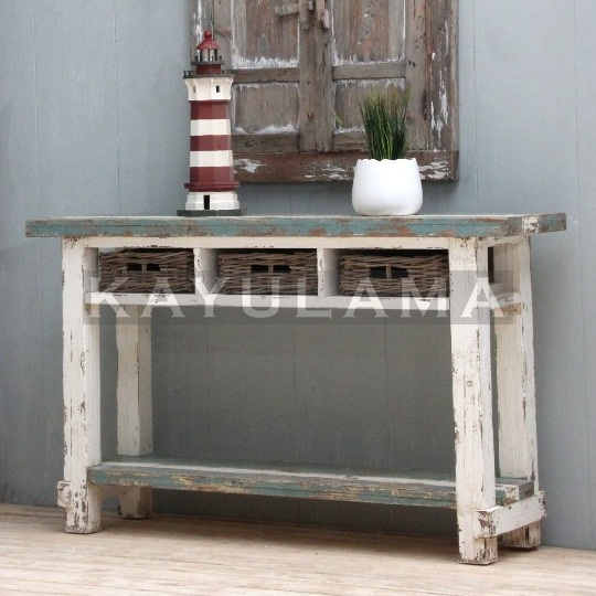 RECYCLED PINE FURNITURE AIMANN CONSOLE TABLE AM-10
