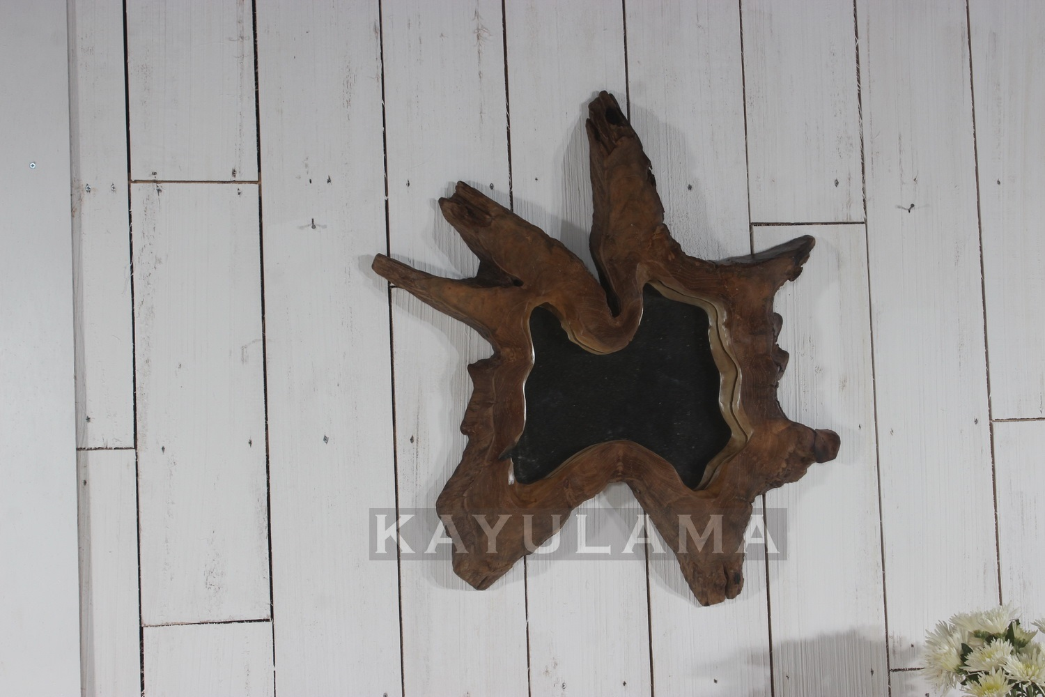 Accessories Teak Root Furniture 187 Star Wooden Mirror D60