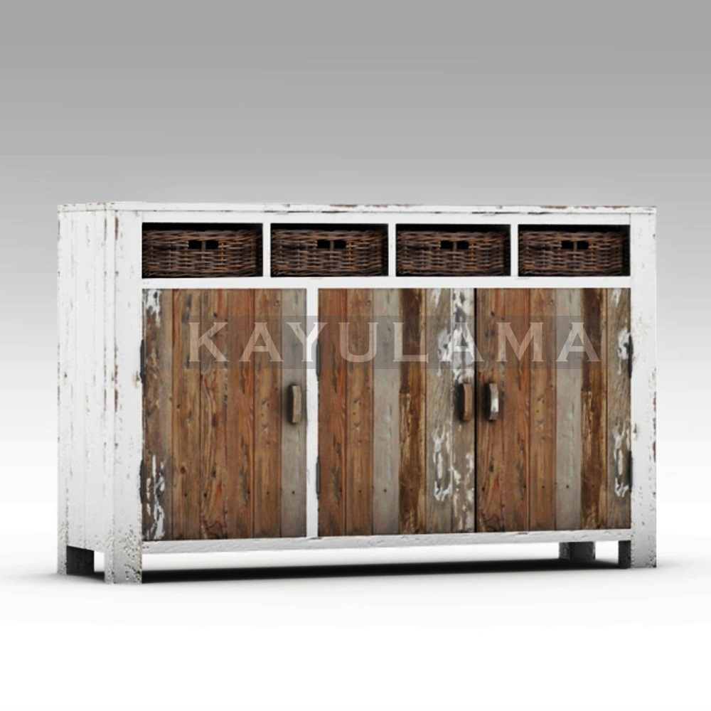 reclaimed recycled pine furniture cabinet