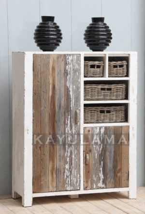 Reclaimed Pine Storage Cupboard
