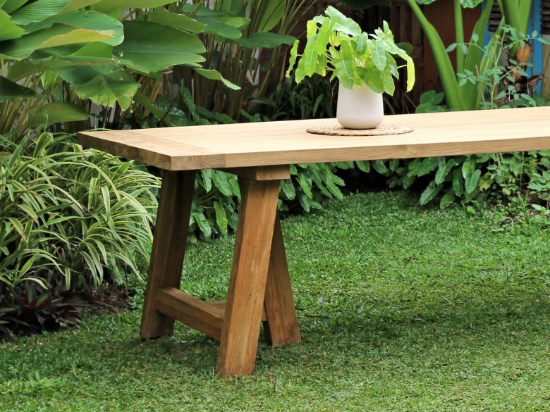 Reclaimed Teak Outdoor Dining Table