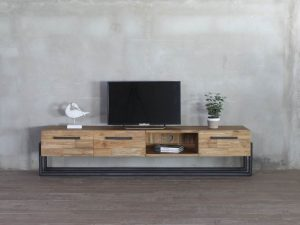 reclaimed teak tv cabinet